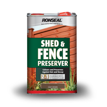 Shed And Fence Preserver Wood Preserver Ronseal