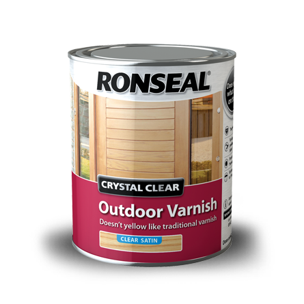 Crystal Clear Outdoor Varnish Ronseal