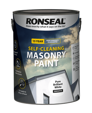 Ronseal Self-Cleaning Masonry Paint 5L (Pure White)-2.png